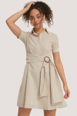 Trendyol Miniklänning Med Bältesdetalj - Beige