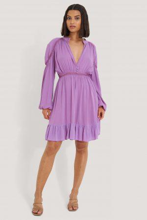 Trendyol Långärmad Miniklänning - Purple