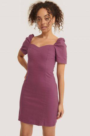 Trendyol Klänning Med Kort Ärm - Purple