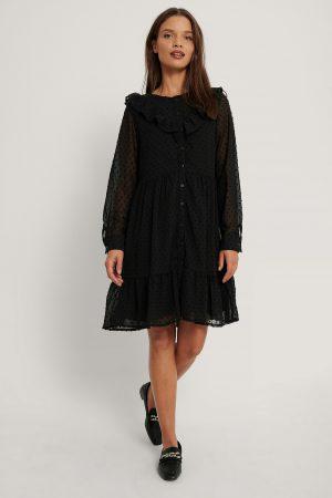 Trendyol Miniklänning Med Volangdetalj - Black