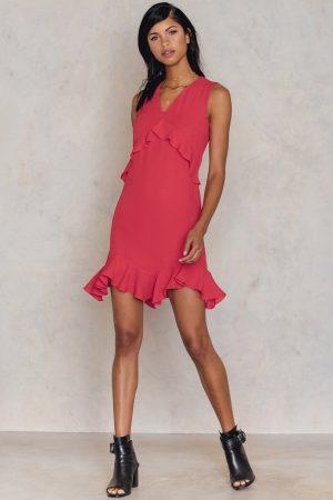 Trendyol Kirmizi Ruffle Dress - Red