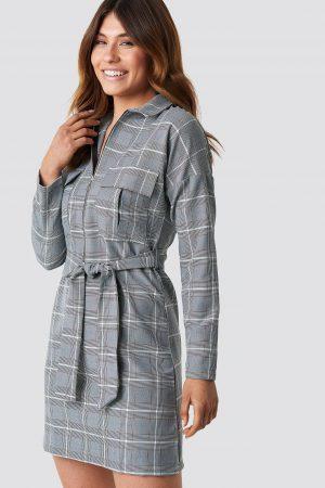 Trendyol Lacing Detailed Mini Dress - Grey