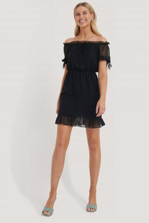 Trendyol Miniklänning Med Meshdetaljer - Black