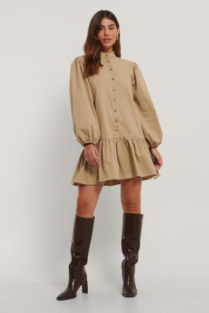 Trendyol Vid Miniklänning - Beige