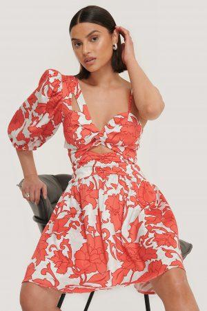Trendyol Miniklänning Med En Ärm - Red