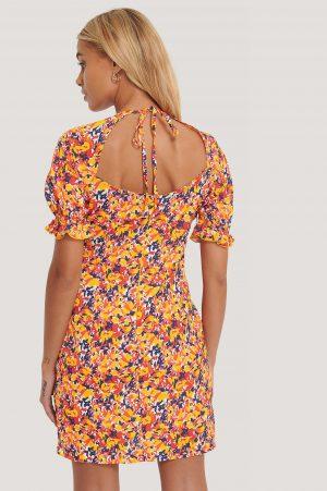 Trendyol Blommig Miniklänning - Multicolor