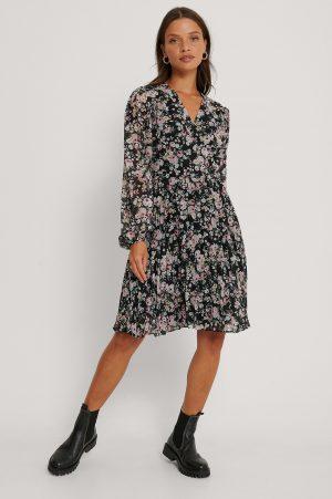 Trendyol Plisserad Miniklänning - Multicolor