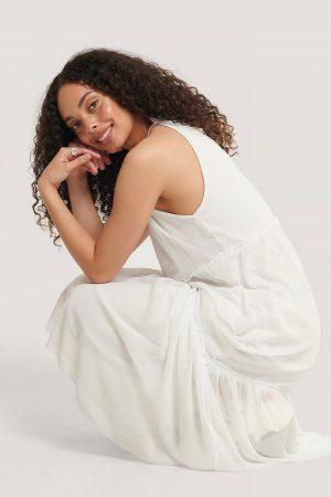 Trendyol Maxiklänning Med Halterneck - White