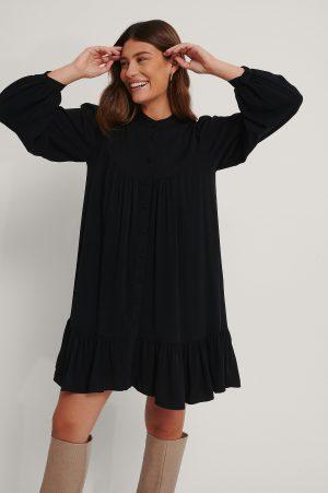 Trendyol Skjortklänning Med Detaljer - Black