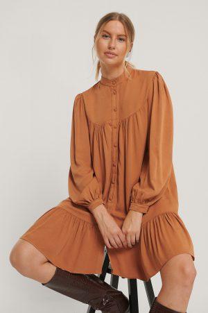 Trendyol Skjortklänning Med Detaljer - Orange