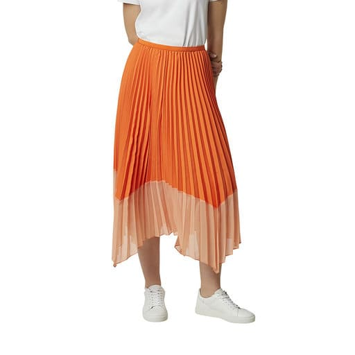 Orange kjol för dam 2021