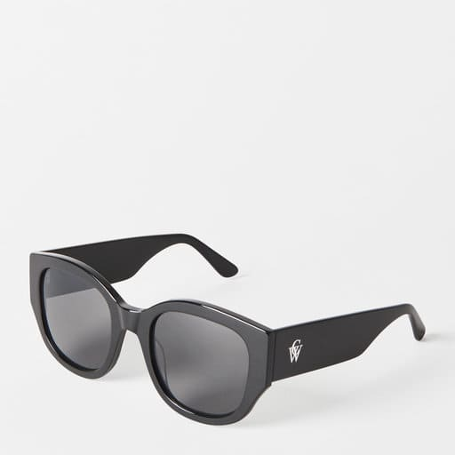 Fyrkantiga svarta solglasögon för dam