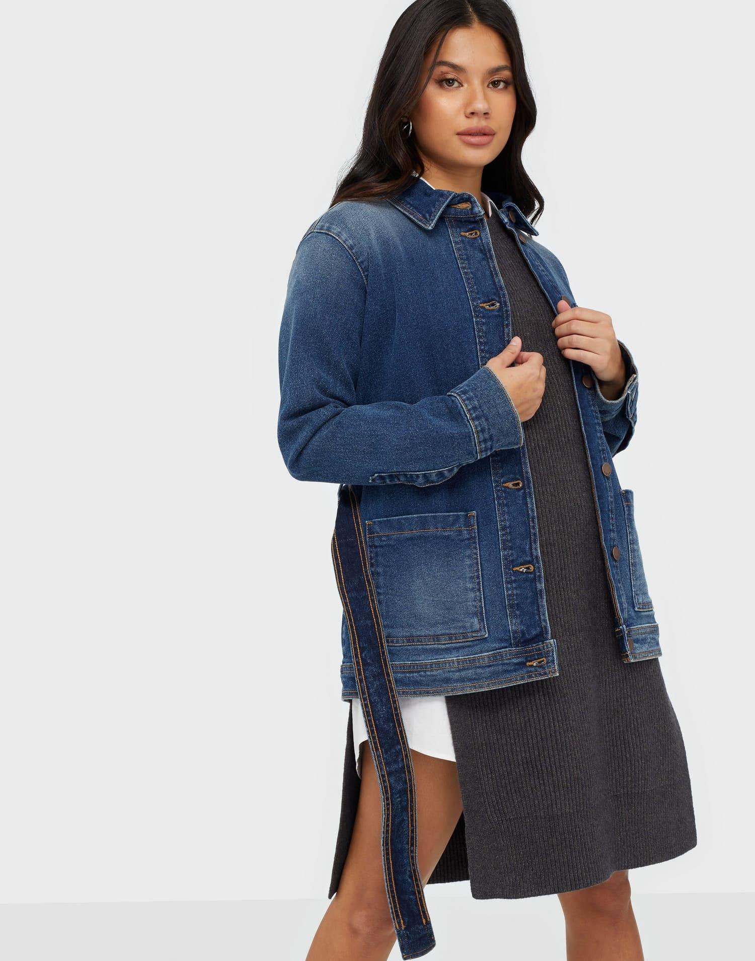 Mörkare blå jeansjacka för dam