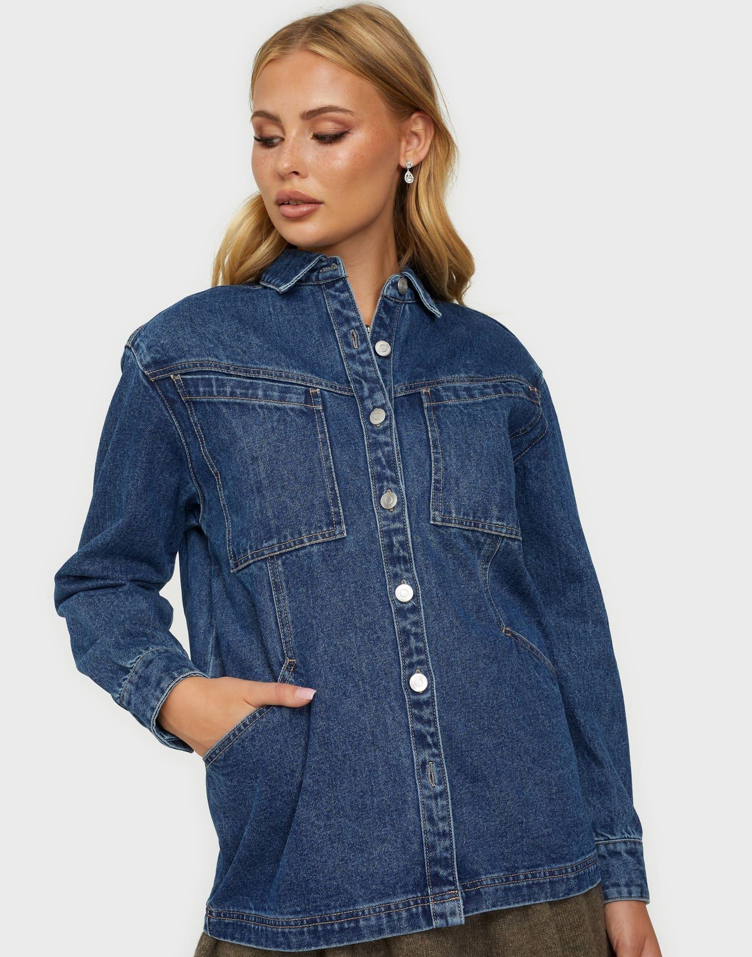 Oversized jeansjacka för dam