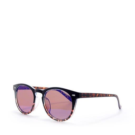 Runda solglasögon för dam i lila färg 2021