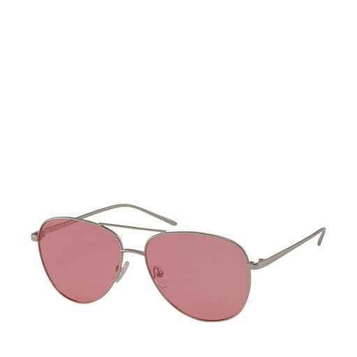Pilotglasögon med rosa glas för dam