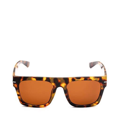Oversized bruna solglasögon för dam 2021