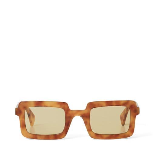 Bruna fyrkantiga solglasögon för dam