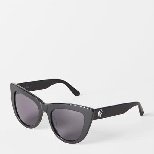 Svarta cateyesolglasögon för dam 2021
