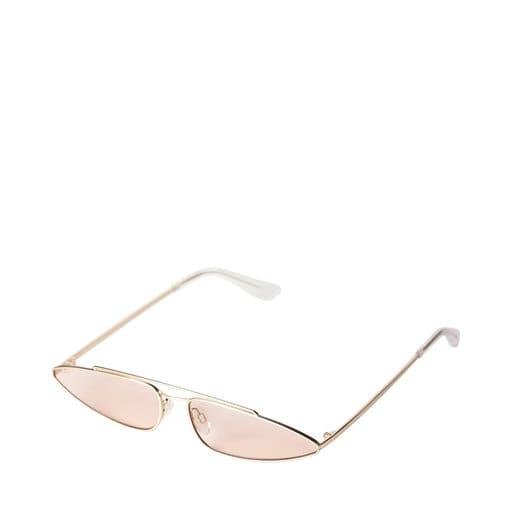 Nätta solglasögon med rosa glas för dam 2021