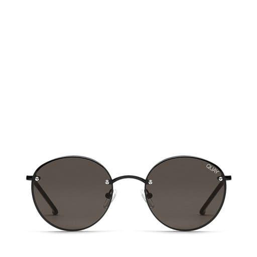 Svarta runda solglasögon för dam
