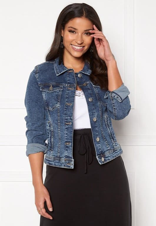 Mörkare jeansjacka för dam