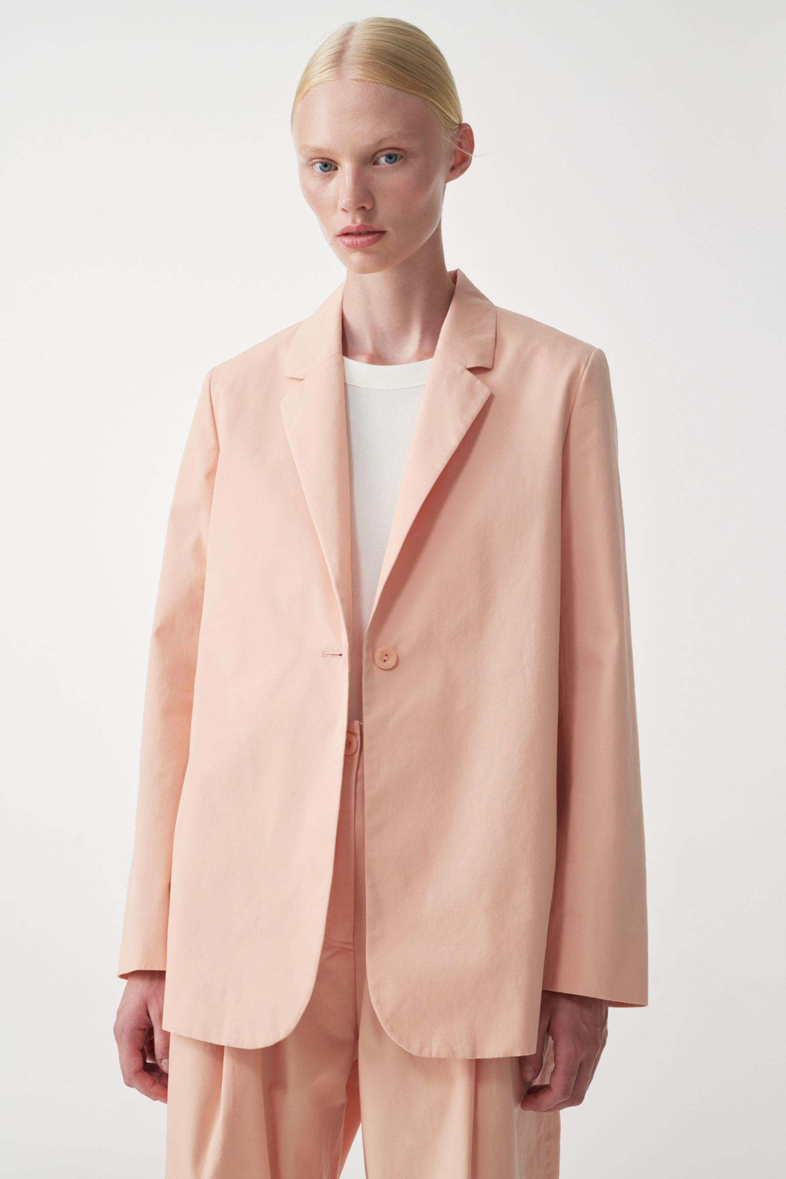 Ljust rosa blazer för dam 2021