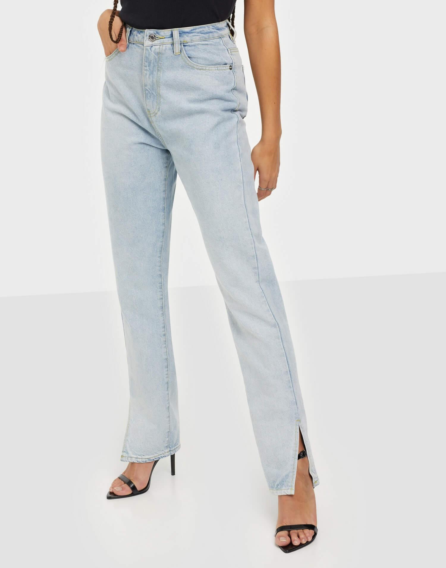 Snygga högmidjade jeans från Missguided.
