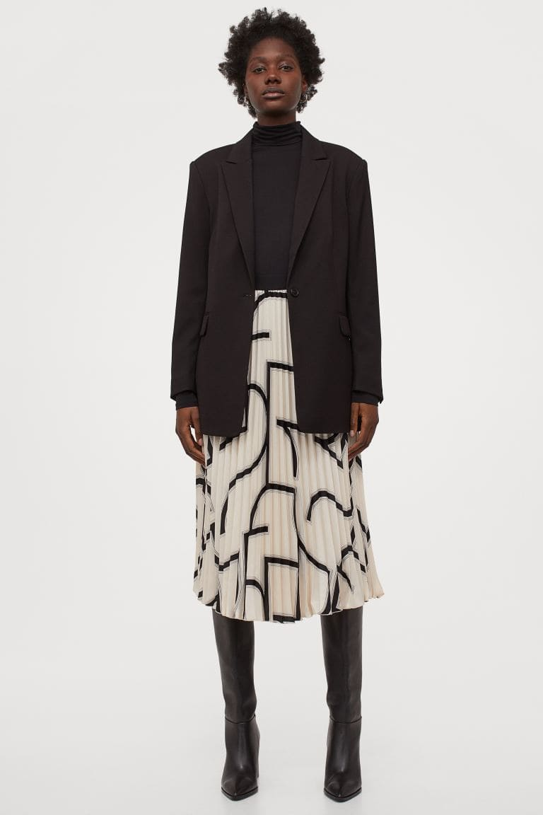 Kjol för dam med mönster 2021