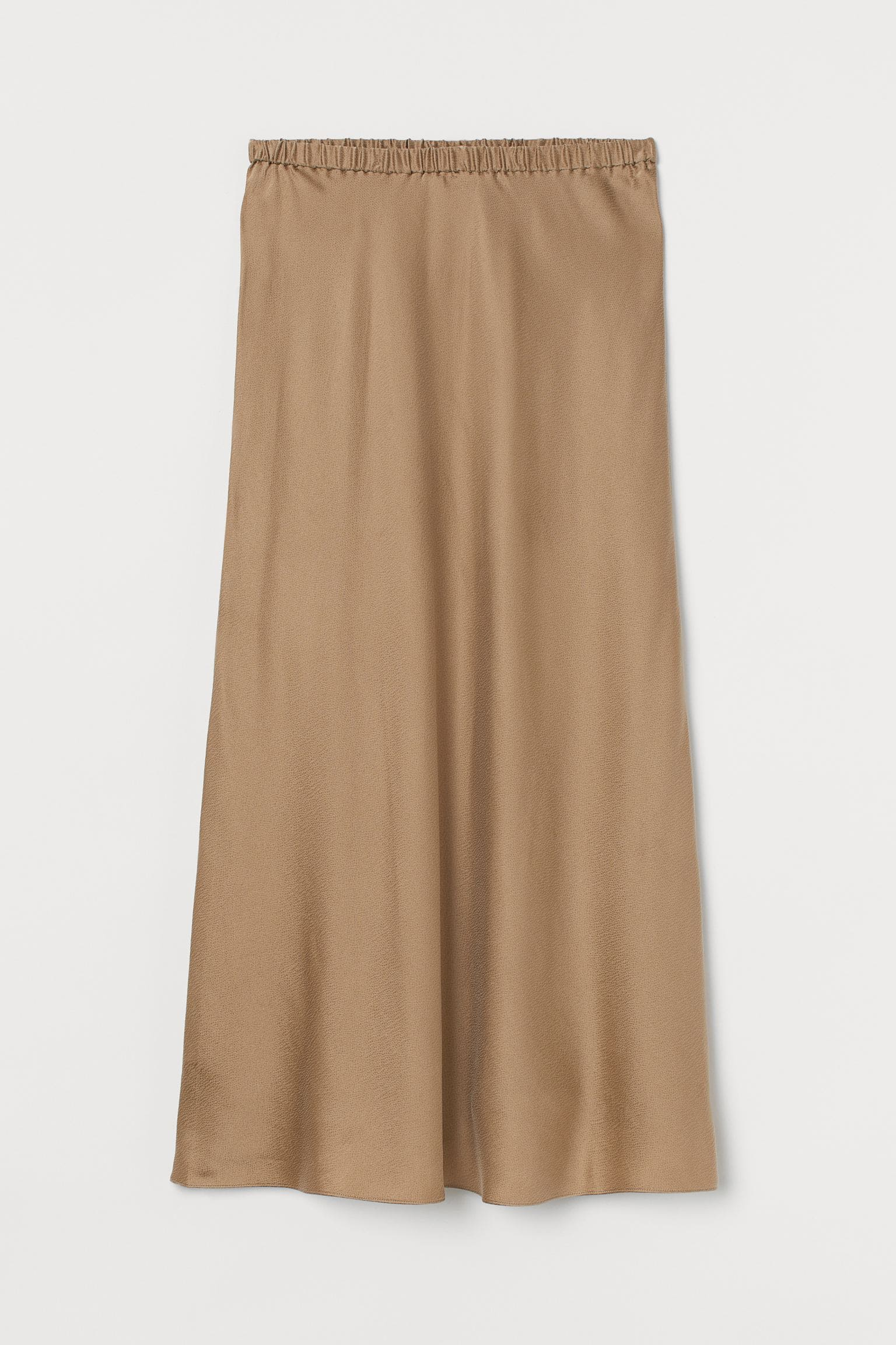 Lång mörkbeige kjol för dam 2021