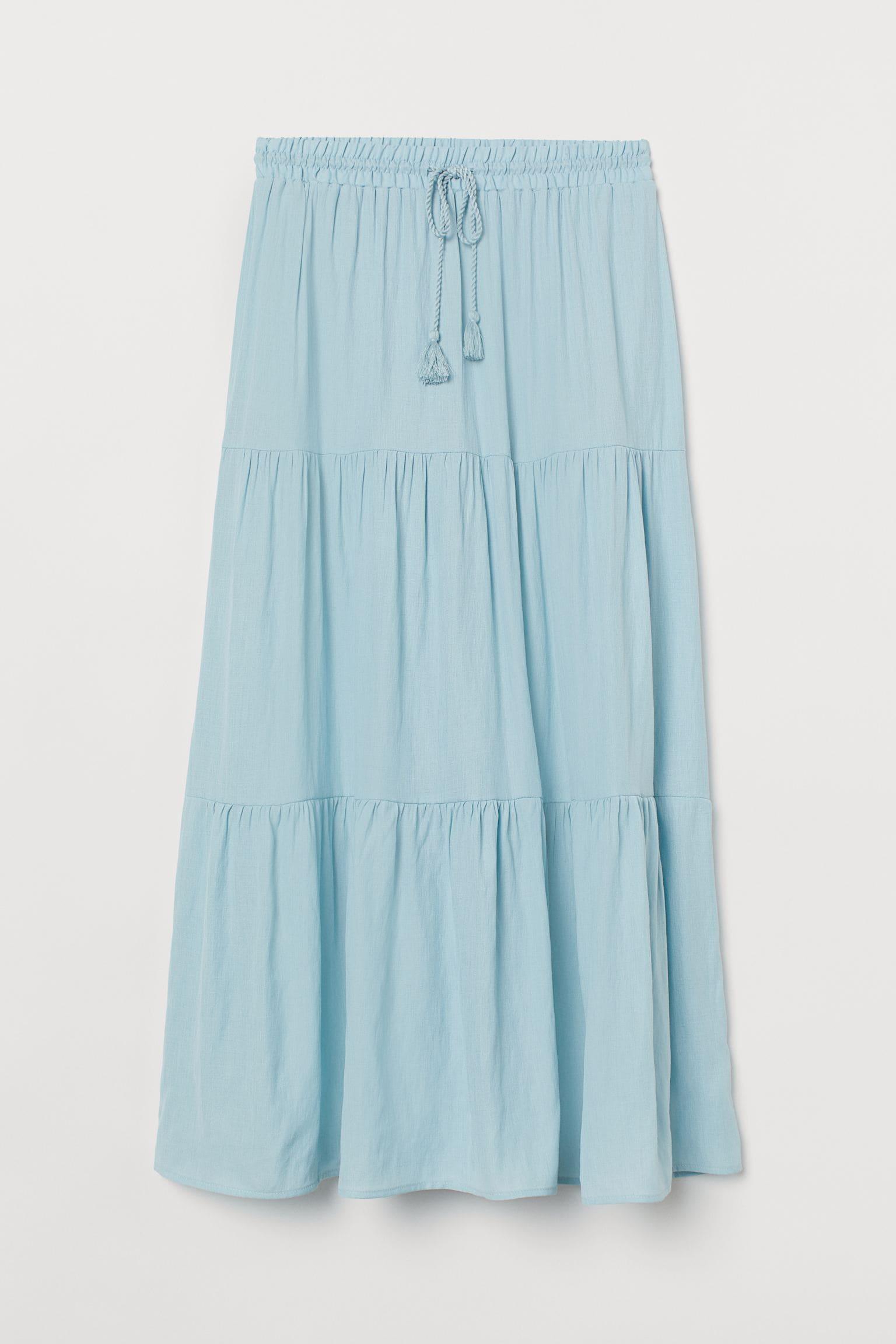 Turkos lång kjol för dam