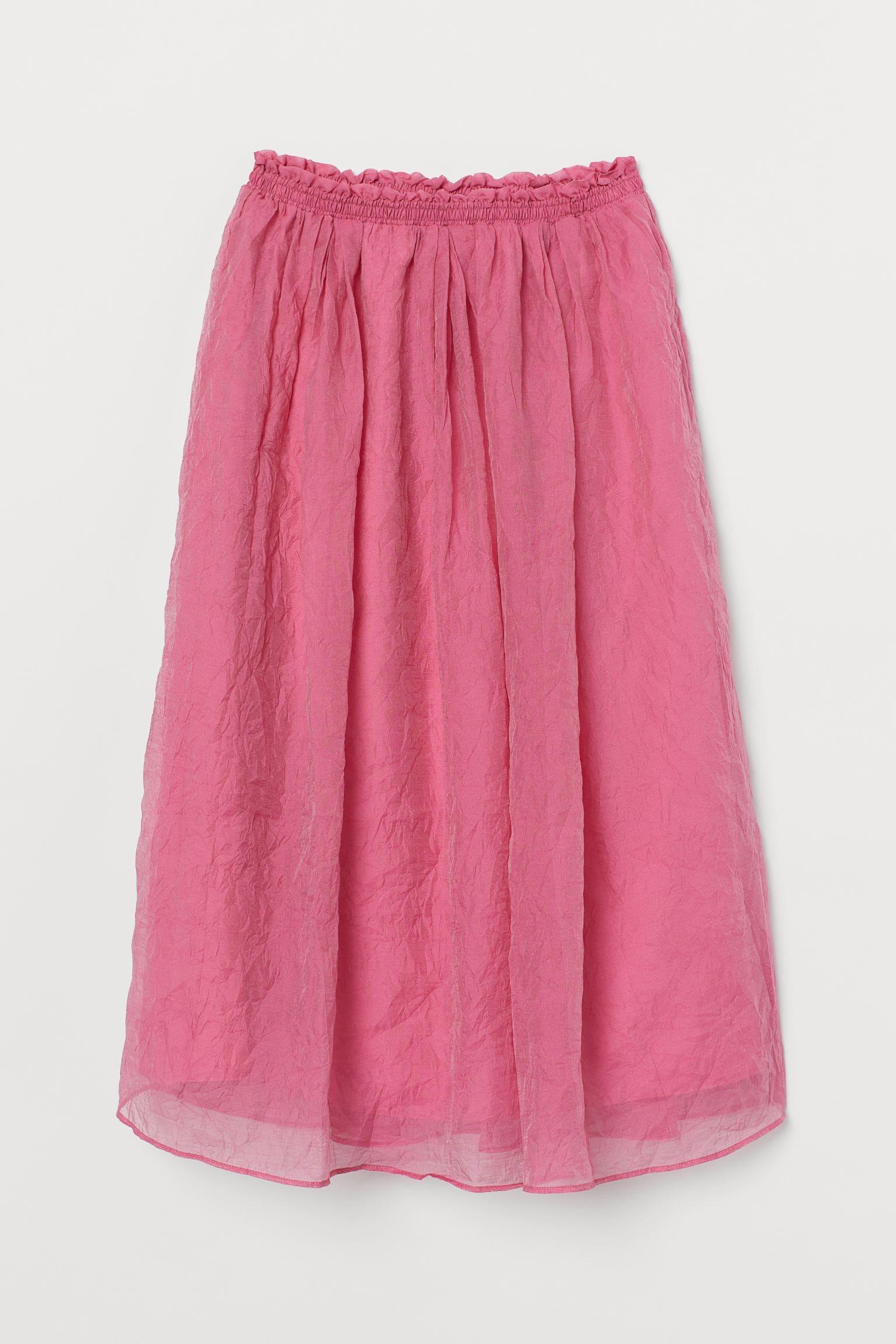 Rosa lång kjol för dam 2021