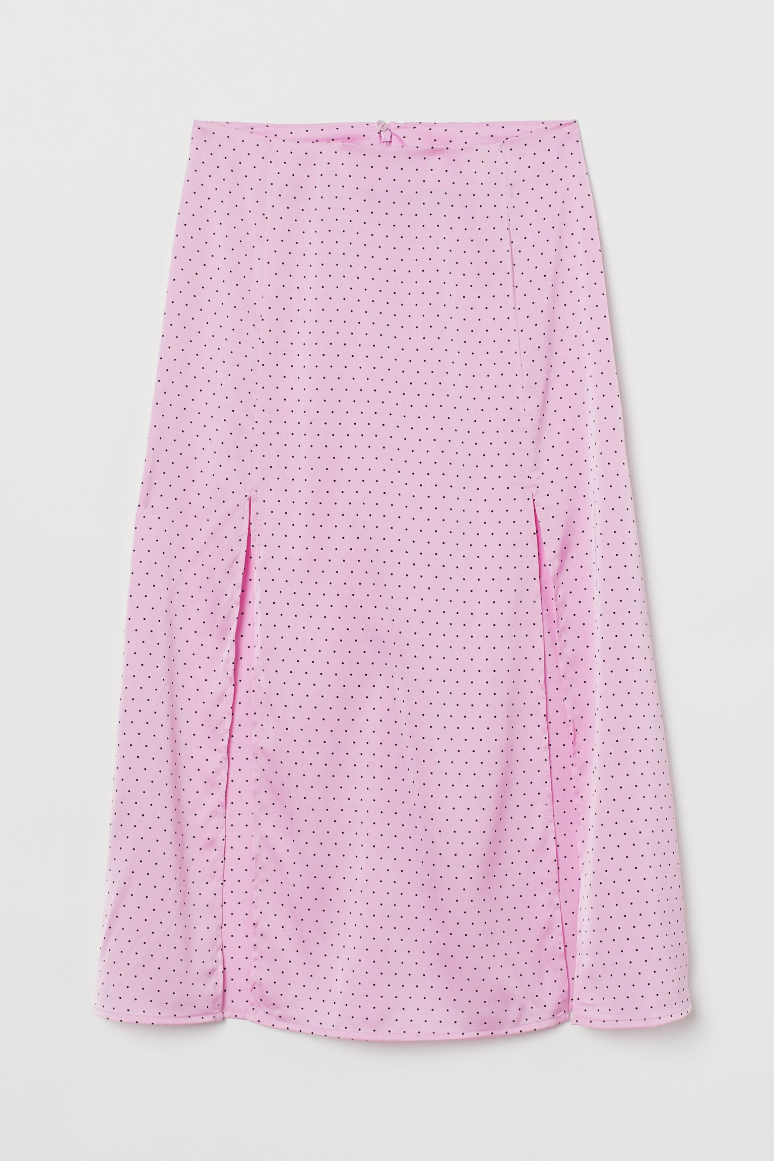 Ljust rosa kjol med slits för dam