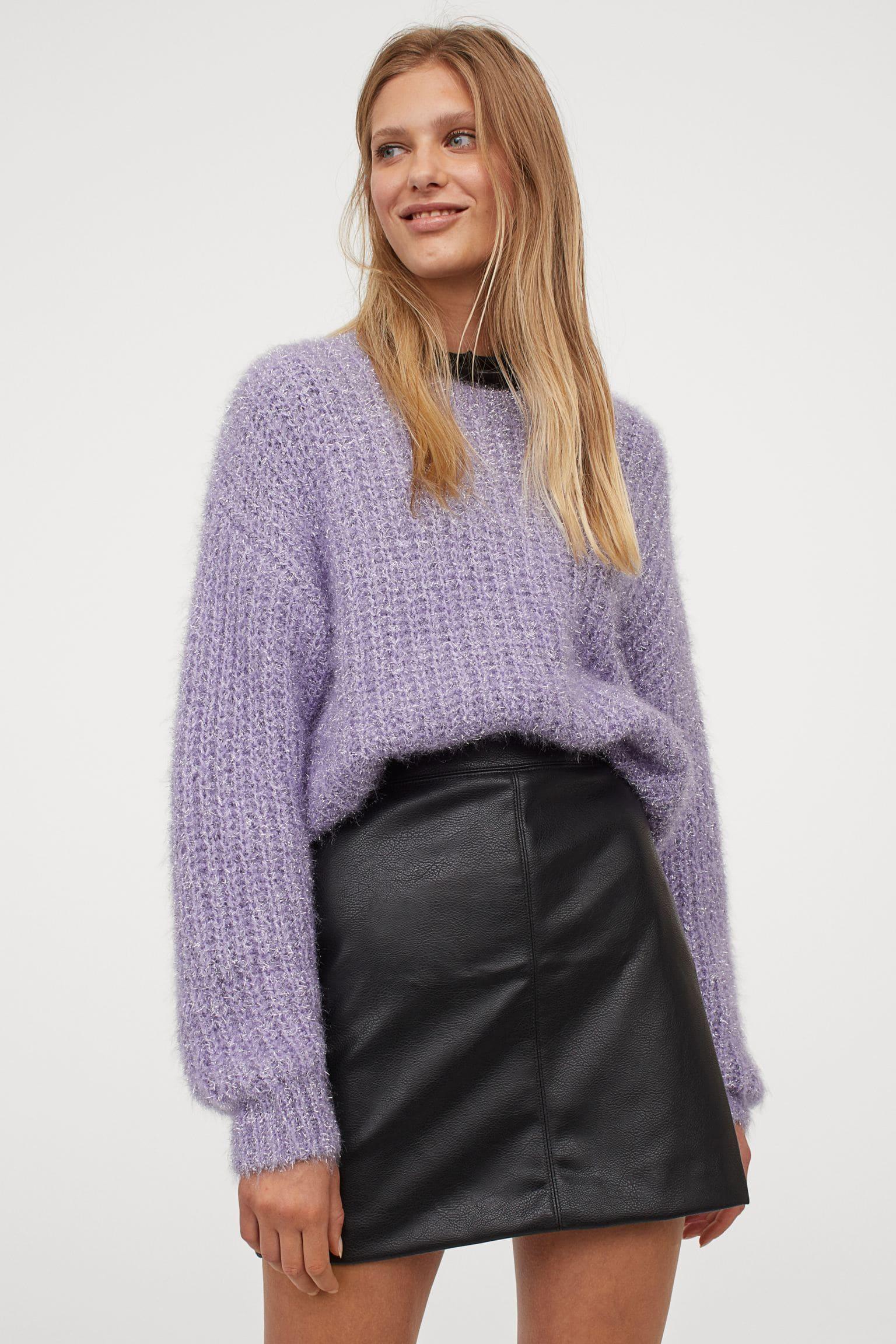 Kort kjol i läderimination för dam 2021