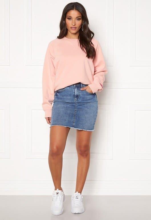 Jeans kjol i klassisk modell för dam