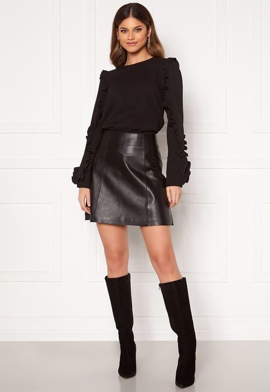 Svart mini kjol för dam 2021