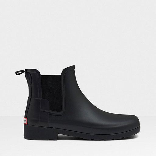 Svarta Chelsea boots från Hunter.