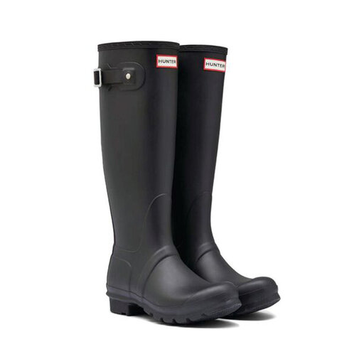 Svarta Hunter stövlar - Original Tall Wellington boots