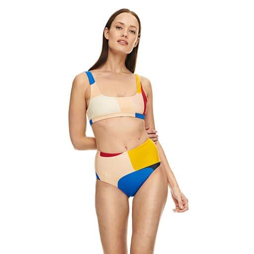 Tidlös retroinspirerad bikinitrosa med hög midja