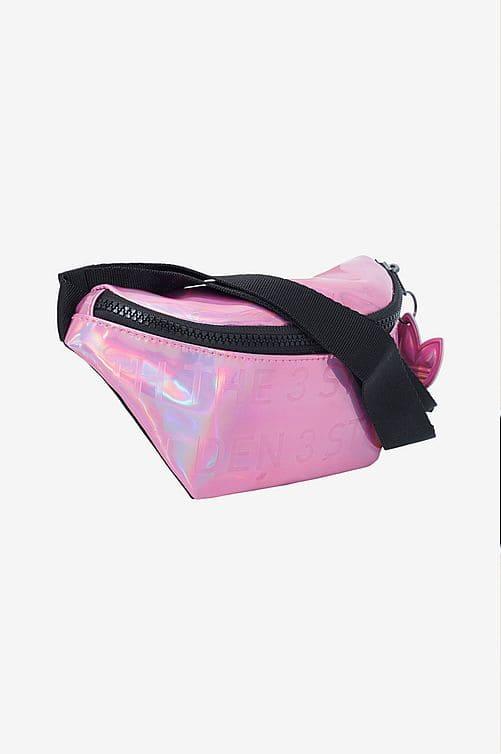 Glänsande rosa magväska från Adidas Originals