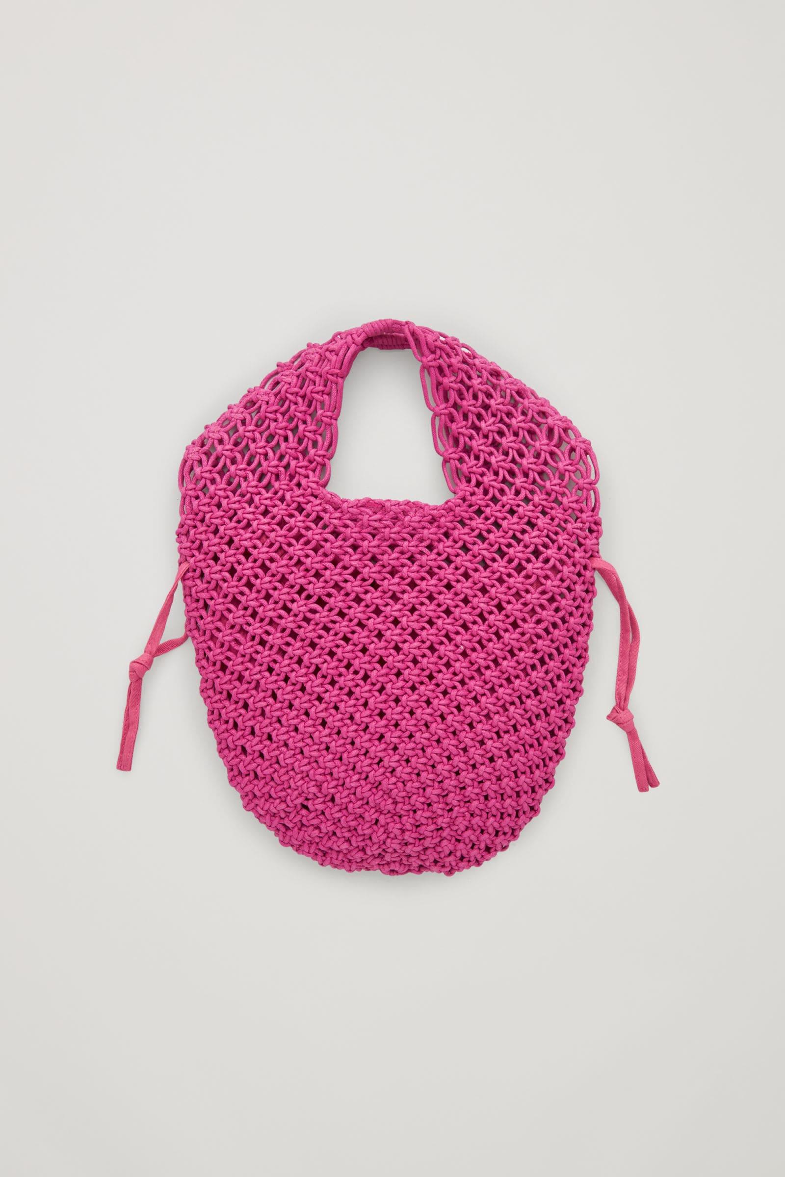 Rosa crotcheted väska