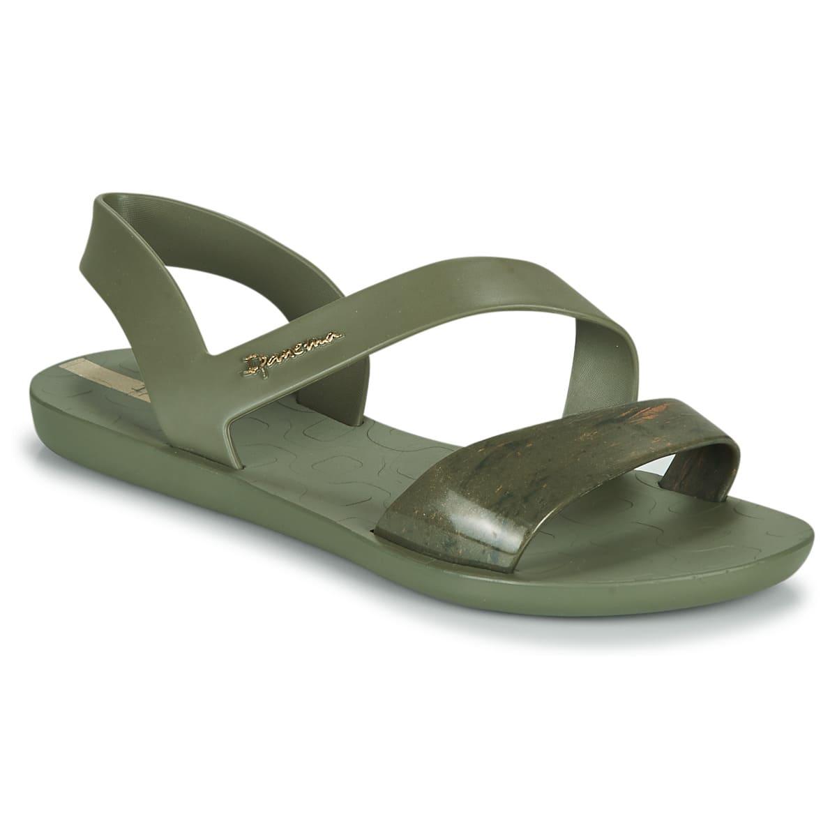 Gröna sandaler i veganskt material för 2021