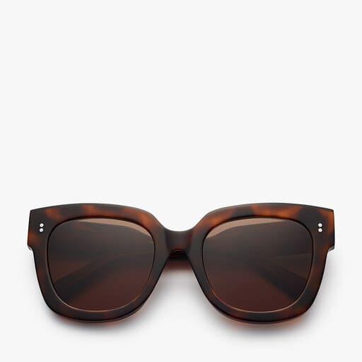 Stora bruna fyrkantiga solglasögon för dam 2021