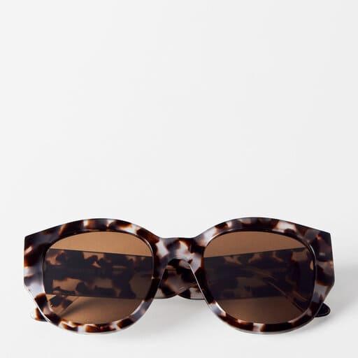 Handgjorda runda solglasögon för dam