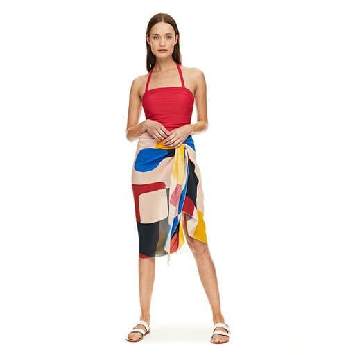 Pareo / klänning för stranden som knyts den i midjan.