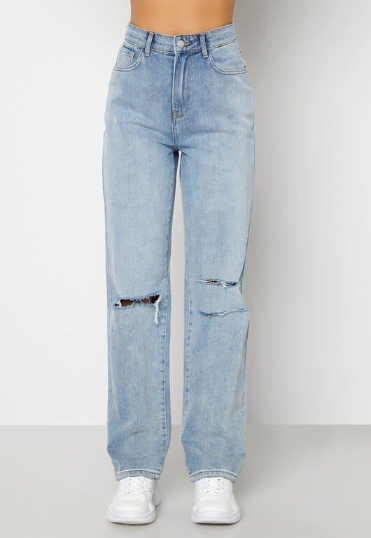 Snygga jeans med en rak passform i bomull
