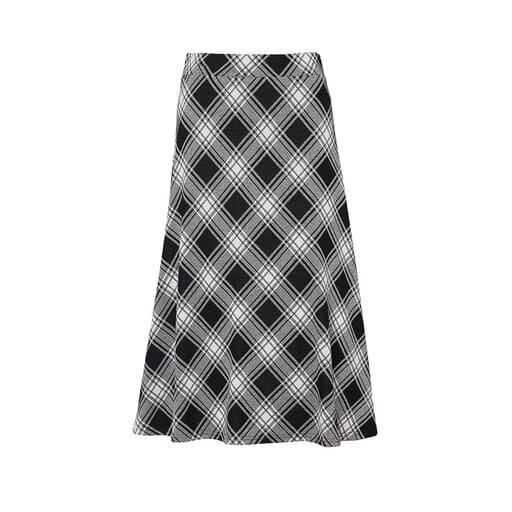 Rutig kjol för dam 2021