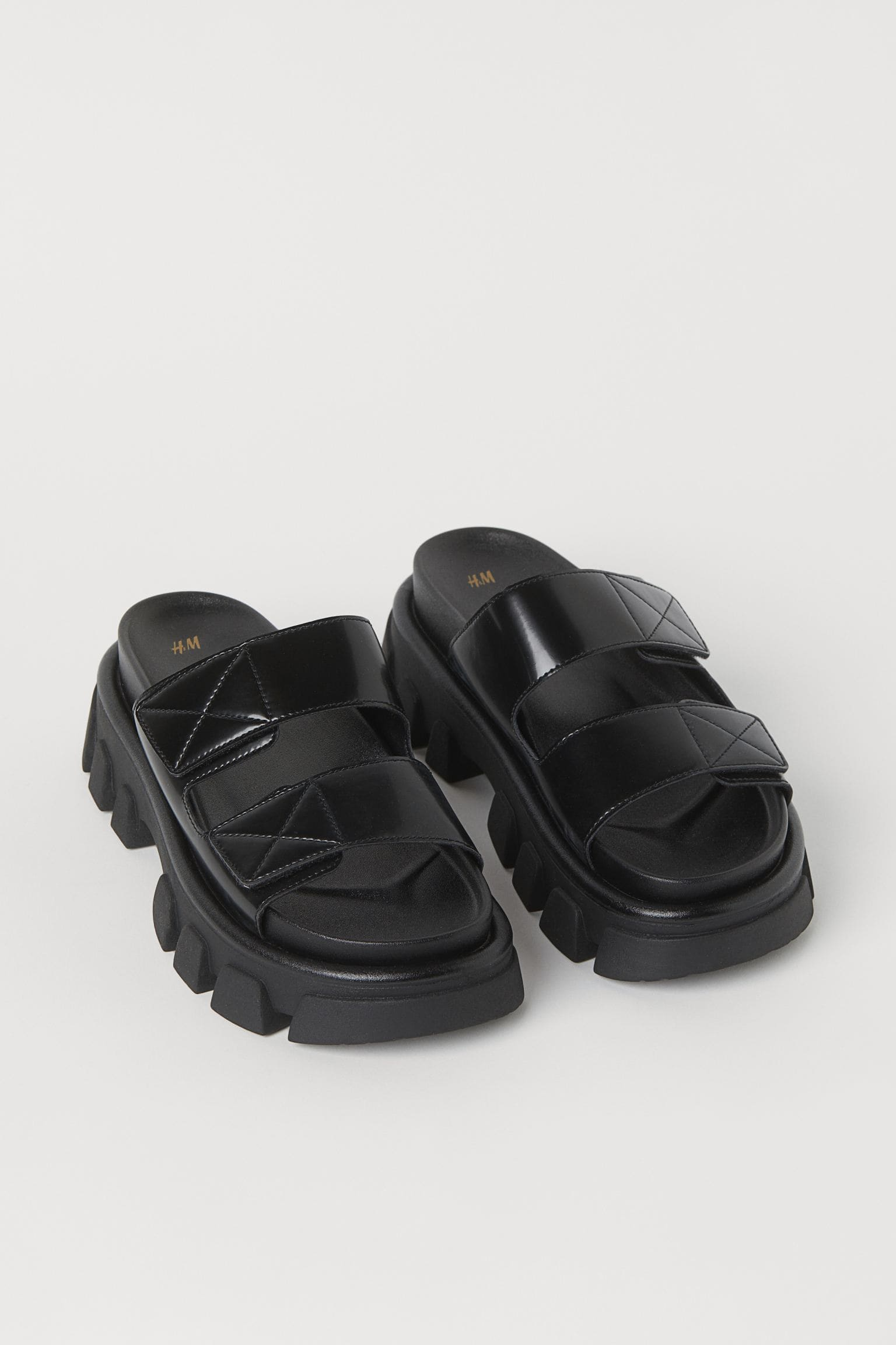 Chunky sandaler i svart 2021