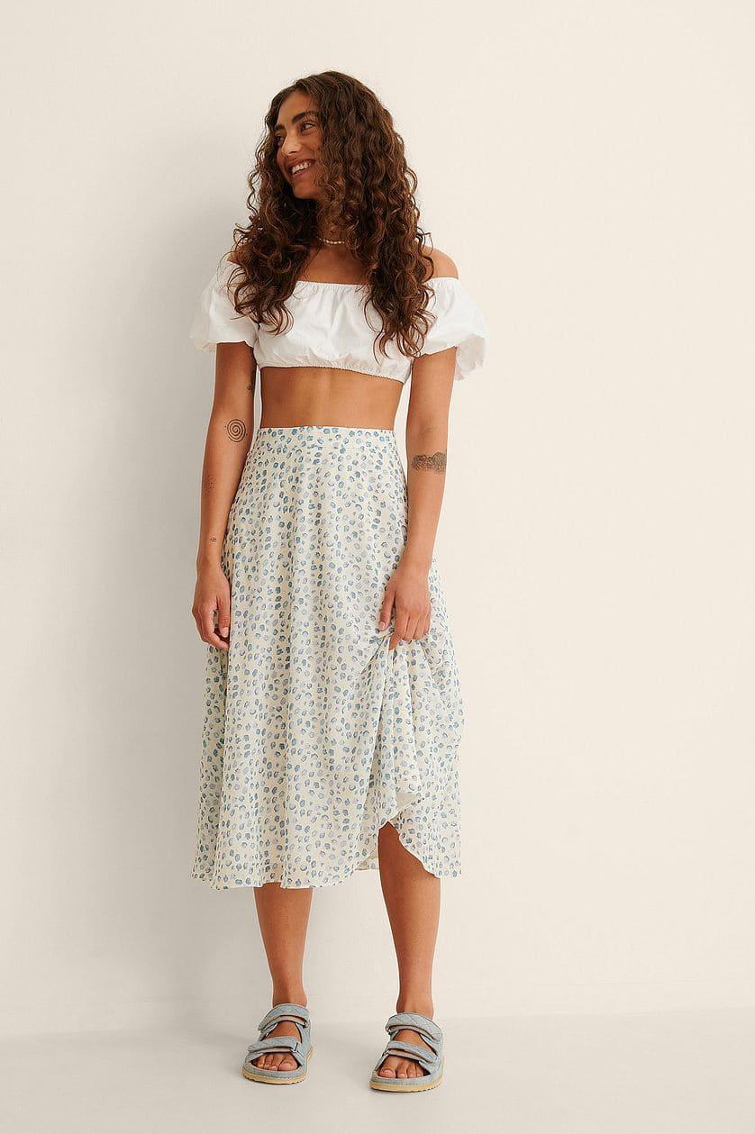 Somrig återvunnen kjol för 2021