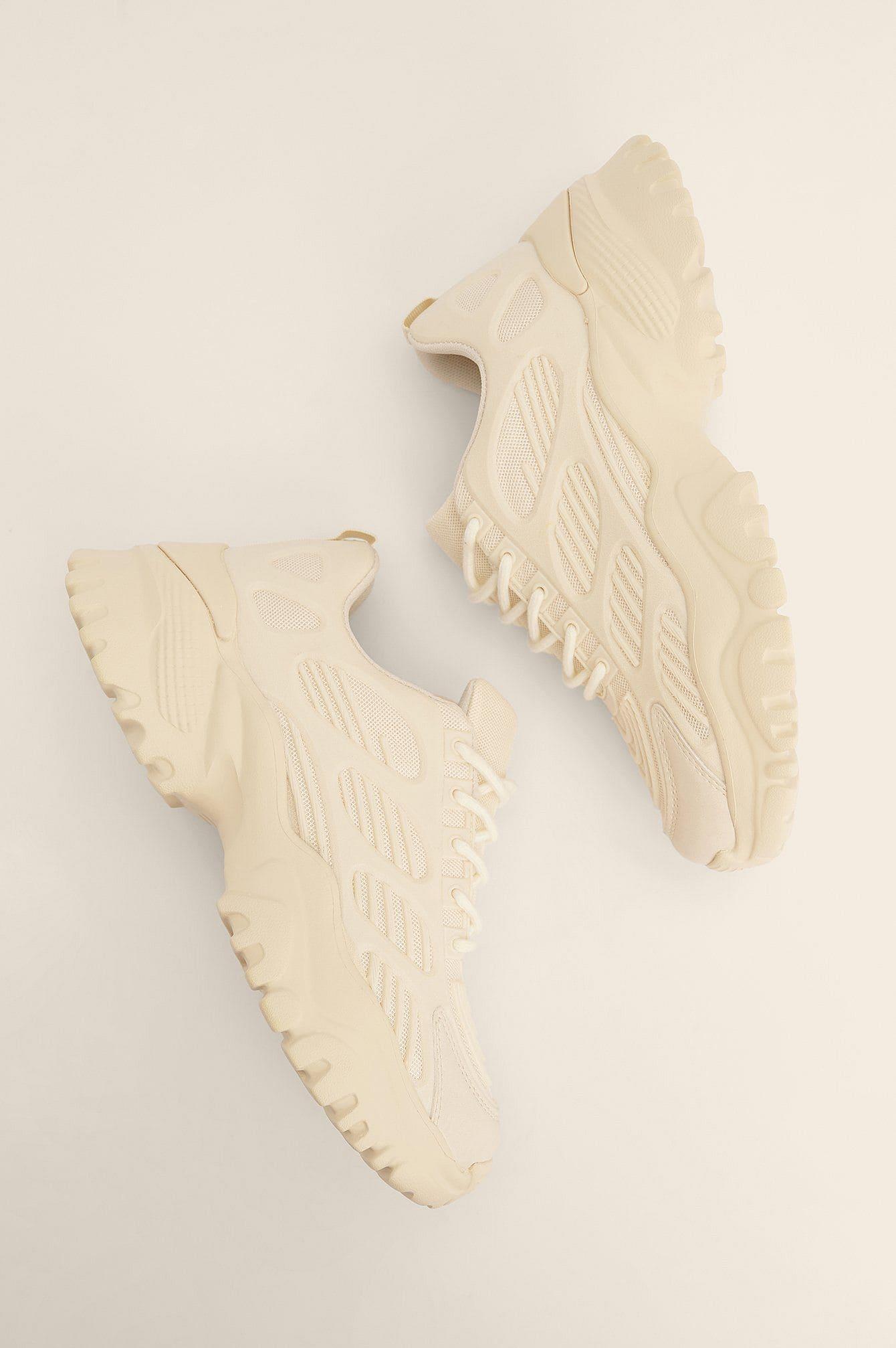 Naturvita chunky sneakers med mesh